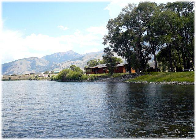 View of the house from the beautiful river - River Rose - Emigrant - rentals