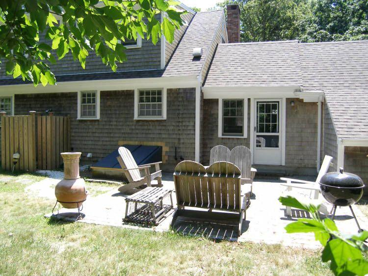 Enjoy the patio out back with privacy - 12 Roberts Way - East Sandwich - rentals