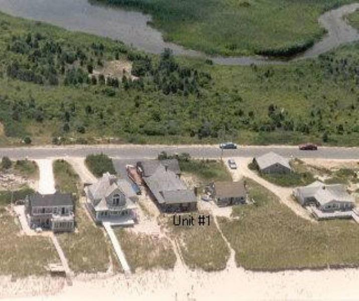 Aerial view - Dune Tootin 1 and 3 - East Sandwich - rentals