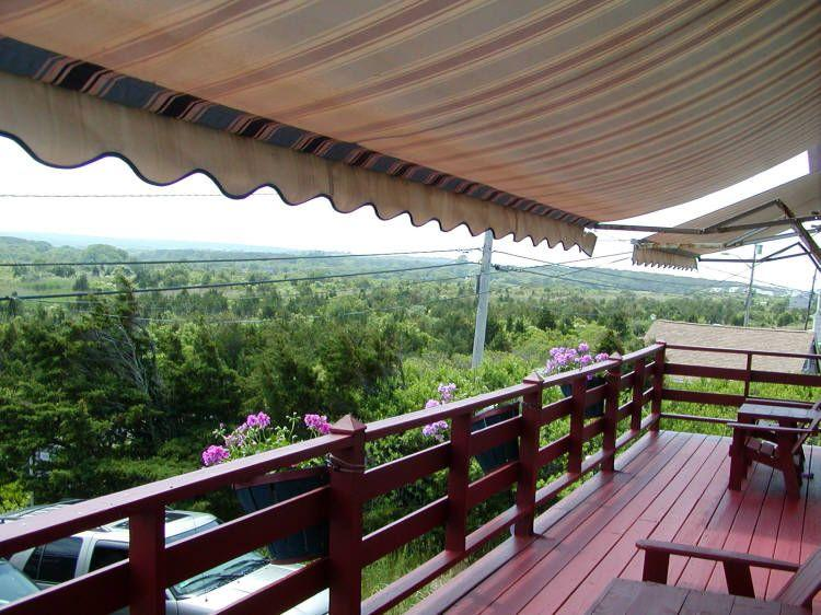 New awnings on the front porch overlooking the marsh - Dune Tootin Unit 3 - East Sandwich - rentals