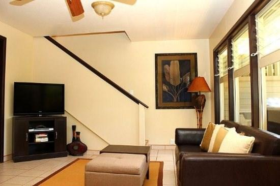 living room - Free Car* Makanui Bungalow - Private, beautifully decorated bungalow with upstairs oceanviews. - Poipu - rentals