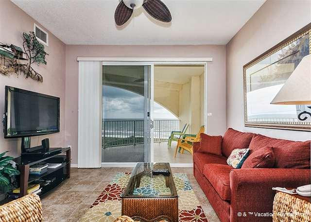Unwind and settle into our luxury living room with HDTV - Surf Club 1605, beachfront 6th floor, 3 pools, wifi, new HDTV - Palm Coast - rentals