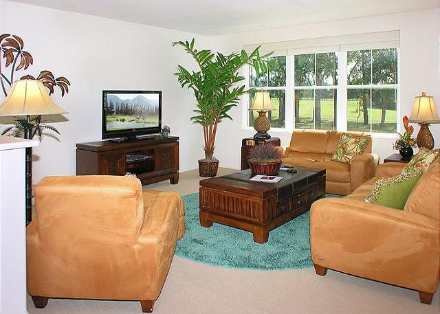 Downstairs Living Room - Nihilani 22B: **Pool heated to 80 degrees from November through February** - Princeville - rentals