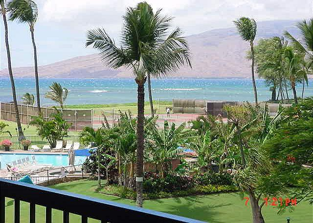 MS312B Lanai view - Maui Sunset 312B ~ 1 Bedroom, 2 Bath, Full Kitchen, Ocean View! - Kihei - rentals