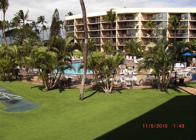 Maui Sunset 323B  1400 square feet with two Lanais and excellent ocean view! - Image 1 - Kihei - rentals
