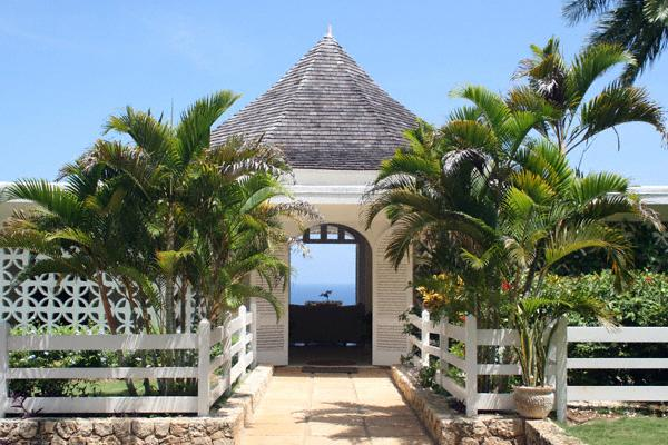Nutmeg is on a ridge overlooking the sea.   As you enter your first view is of the ocean. - Nutmeg - Spring Farm, Montego Bay 6 Bedrooms - Montego Bay - rentals