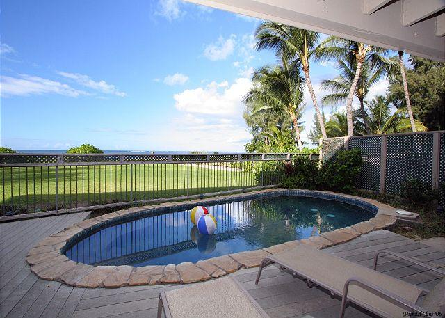 8 bedroom oceanfront mansion with pool & jacuzzi. Perfect for large groups - Image 1 - Haleiwa - rentals