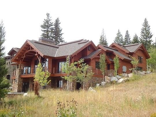 Home sits on open Hillside with 360 Views - Mountain Paradise II 5 Bedroom, 7 Bath Custom Home. Sleeps 12-14. WIFI. Pet Friendly. - Tamarack Resort - rentals