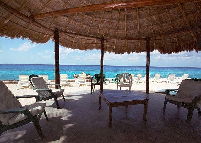 View from the Palapa - Oceanfront Villa 200ft Private Shoreline. Private Pool, Cook Service Option - Cozumel - rentals