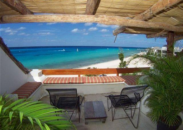 Beachfront on San Francisco Beach, Rooftop Balcony, Brilliant Ocean View - Image 1 - Cozumel - rentals