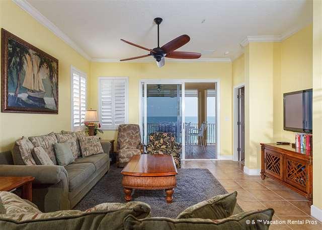 Cinnamon Beach 751 comfortably sleeps ten people! - 751 Cinnamon Beach 5th Floor OceanFront Oversized Balcony, HDTV - Palm Coast - rentals