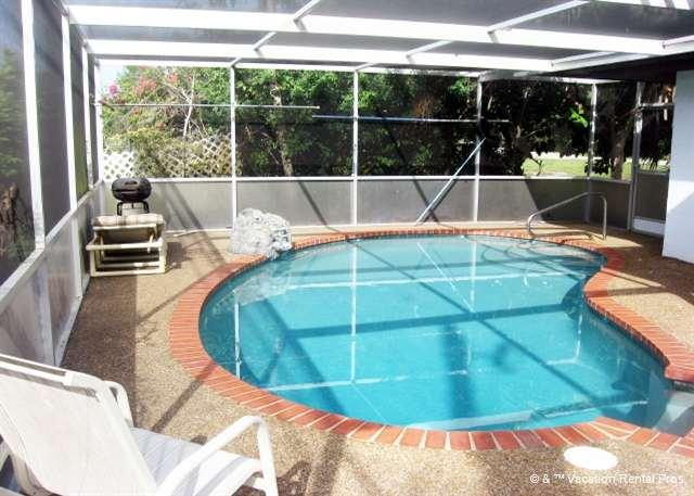 Enjoy good times together in our very private pool! - Falcon Beach Home - Heated Pool, Wifi, near Beach - Venice - rentals