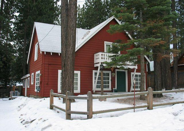 Winter Exterior - Refreshed Five Bedroom Tahoe Style Cabin - Amazing Location. - South Lake Tahoe - rentals
