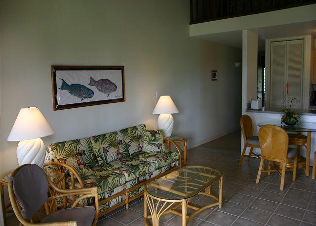 Living room/Dining area - Turtle Bay 020 West ** Available for 30 day rentals. Please call - Kahuku - rentals