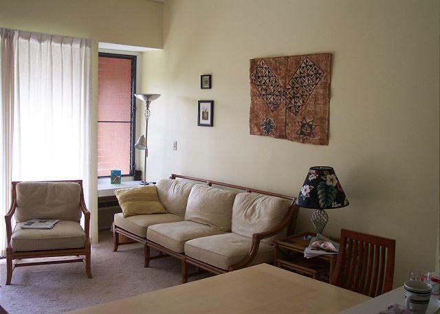 Living Room - Turtle Bay 048 East ** Available for 30 day rental - Kahuku - rentals