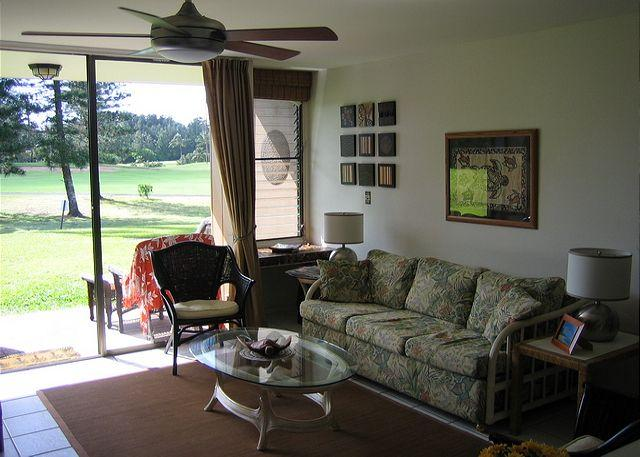 Living Room - Turtle Bay 051 West **Available for 30 day rental - Kahuku - rentals