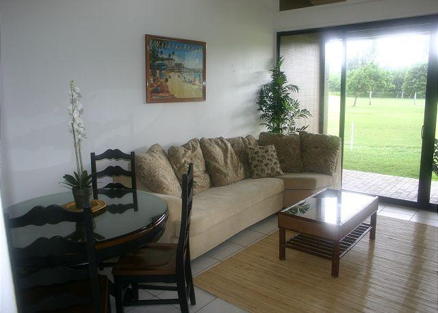 Living Room/Dining Area - Turtle Bay 098 West** Available for 30 day rental, please call - Kahuku - rentals