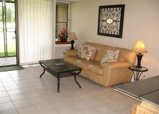 Living Room - Turtle Bay 116 West *  Available for 30 day rental, please call - Kahuku - rentals