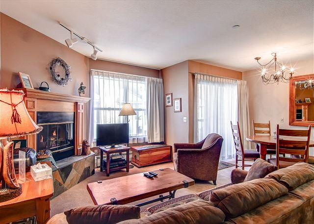 River Mountain Lodge, Living Area, Breckenridge Lodging - River Mountain Lodge W318 Ski-in Condo Downtown Breckenridge Vacation - World - rentals