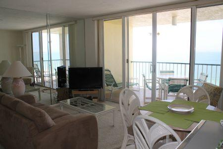 Living - Gulf beach view condo with upscale decor -Walk to area attractions! - Marco Island - rentals