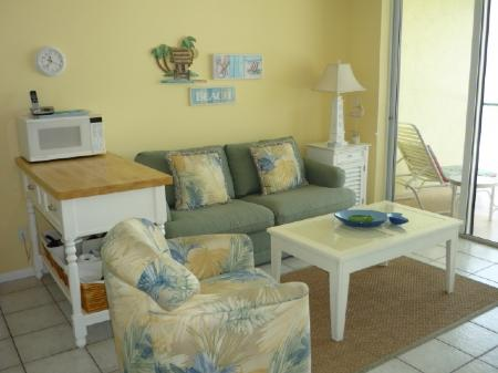 Living - Sand-Sun and a gorgeous Gulf view from the private balcony! - Marco Island - rentals