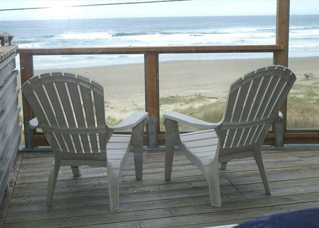 NeahKahNie Deck Overlooking Manzanita Beach - Ocean Front home! spectacular panoramic VIEWS OF THE PACIFIC! Manzanita OR - Manzanita - rentals