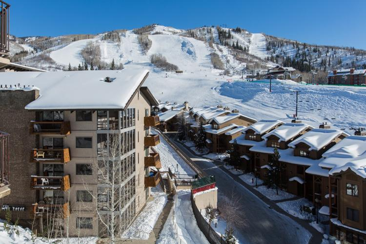 View of ski slopes from balcony - BronzeTree: Ski-in.Pool.Views. Discount Lift Tix* - Steamboat Springs - rentals