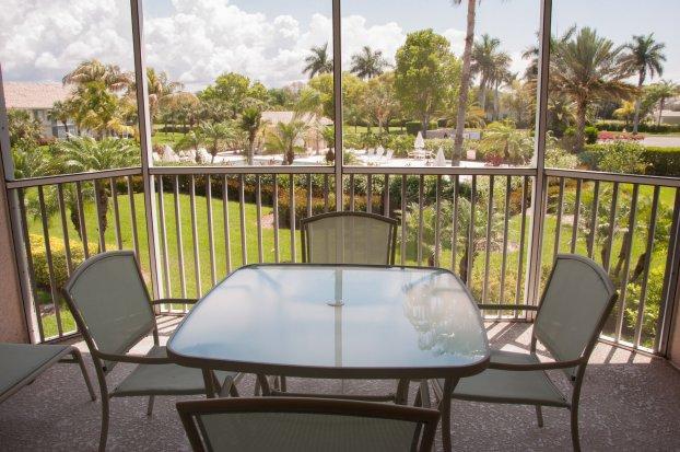 Patio Balcony - Lely, Sunstone - SUN6 - Naples Golf Course Condo! - Naples - rentals