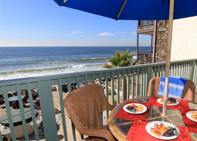 Beachfront Balcony - Beautiful, 2 unit duplex, 6 BR's total, On the Sand, Private Spas & Balconies - Alcalde - rentals