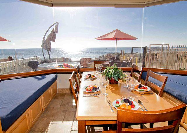 Beach Vacation Rental Oceanside - 4br/4ba Beautiful Oceanfront Condo, Patio, Spa, BBQ, Designer Decorated & A/C - Oceanside - rentals
