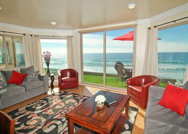 Stunning Oceanfront mansion - New oceanfront 11br/11ba home on the sand w/ rooftop deck, spa, A/C Equipped - Oceanside - rentals