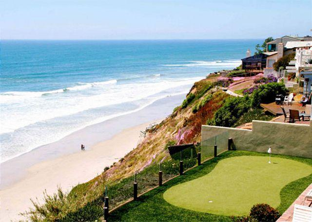 Private putting green overlooking the ocean - Oceanfront Retreat, 5br, 5ba, private putting , oceanfront patio, private spa - Encinitas - rentals