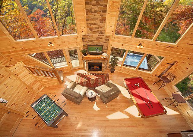 Amazing 2 bedroom Romantic Cabin - 18 Foot Rain Tower Shower - Image 1 - Gatlinburg - rentals