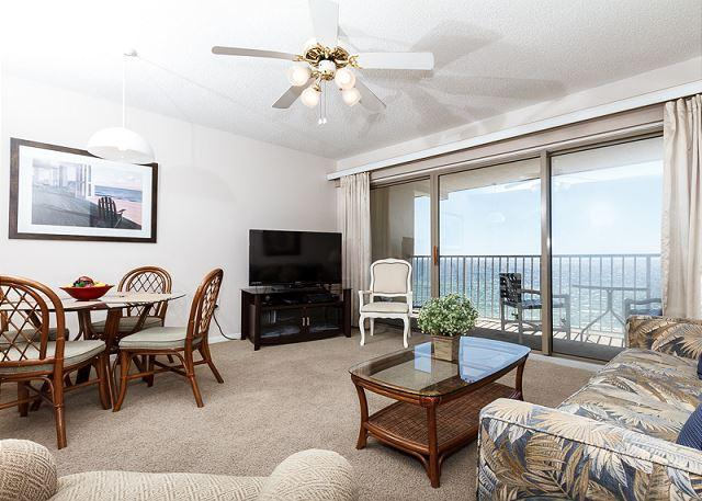 View of the gulf from the condo livingroom - ETW 5004:A little sand between your toes always takes away your woes - Fort Walton Beach - rentals