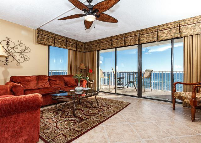 Get an amazing view of the gulf from this corner/end unit on the - GS 501:REMARKABLE beach front condo with SEVERAL UPDATES AND FREE EXTRAS! - Fort Walton Beach - rentals