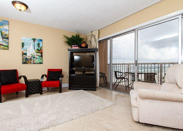 Living Room - #606: Amazing BEACH-Side Condo ~ FREE Beach Service, Movies, Golf and More! - Fort Walton Beach - rentals