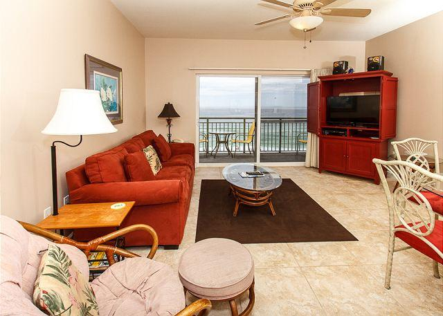 Direct beachfront view from the living room and master bedroom i - PI 608: Charming condo on the beach! Balcony, pool, Free Beach Service - Fort Walton Beach - rentals