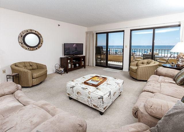 Fresh paint, large flat-screen TV, new furniture additions but s - SD 208:Large beachfront unit- WiFi, balcony, pool, tennis,Free Beach Chairs - Fort Walton Beach - rentals