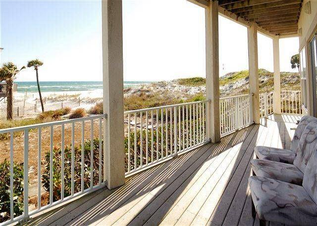 Porch Overlooking Beach - Gulf Pines Delight! Come Relax with Free Golf & Parasailing! - Sandestin - rentals