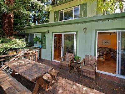 La Rive Gauche, Deck with Views of the Russian River - La Rive Gauche - Monte Rio - rentals