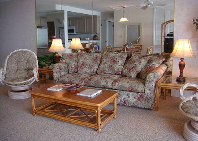 Living Room - A302 Hololani Oceanfront Resort - Lahaina - rentals