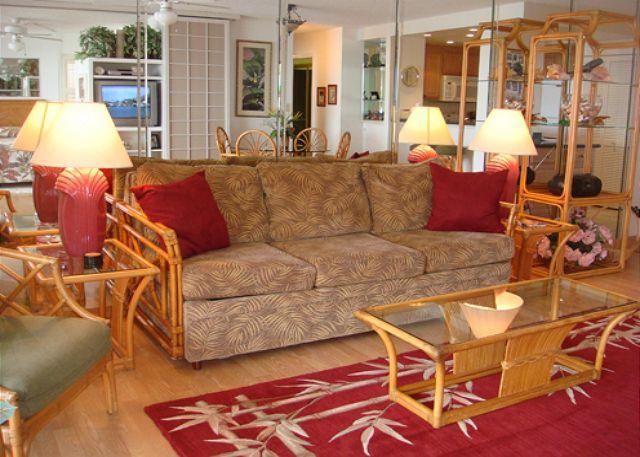 Living Room - A701 Hololani Oceanfront Resort - Lahaina - rentals