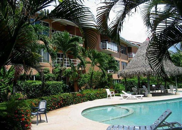 Pool Area - Beautiful beachfront 2bd condo, with views, a/c, full kitchen, BL25 - Tamarindo - rentals