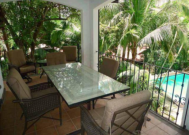 Terrace - Lovely condo- vaulted ceilings, a/c, full kitchen, private terrace, CB5 - Tamarindo - rentals