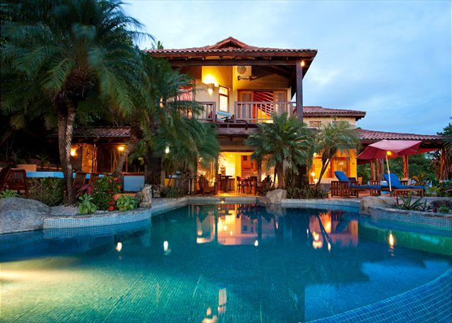 Pool - Beautiful 6 bedroom hillside estate with views, infinity pool, bbq. CLL - Tamarindo - rentals