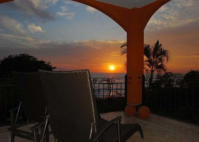 Balcony view - Amazing 2BR oceanview condo- shared pool, vonage phone, a/c, internet HOR204 - Tamarindo - rentals