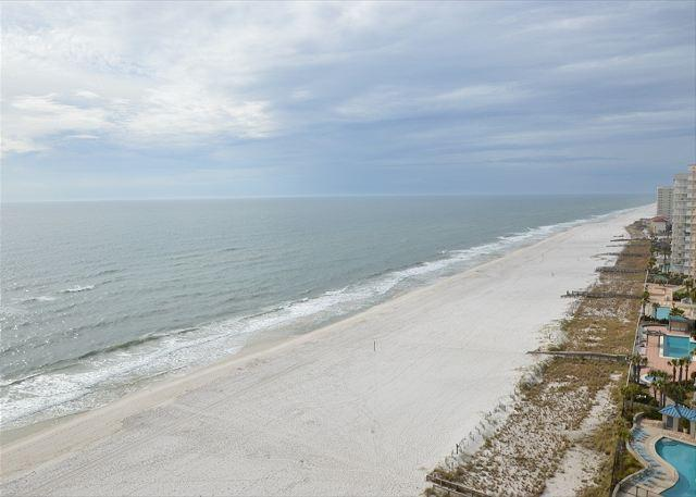 Balcony View - Summer House 1404B ~ Spacious Vacation Condo- Pool, Hot Tub, Playground - Orange Beach - rentals