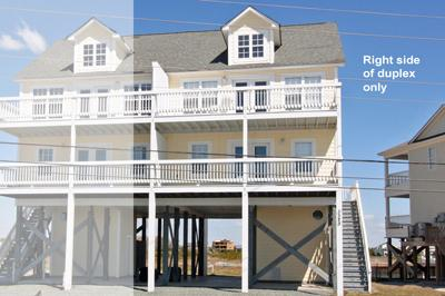 Street side view of Beachcomber - 'Beachcomber - North Topsail Beach - rentals