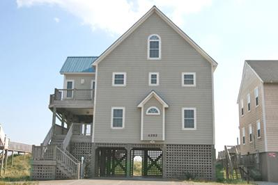 Street side view of Carolina Blue - 'Carolina Blue - North Topsail Beach - rentals