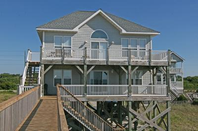 Ocean side of Moon Shadow - 'Moon Shadow - North Topsail Beach - rentals